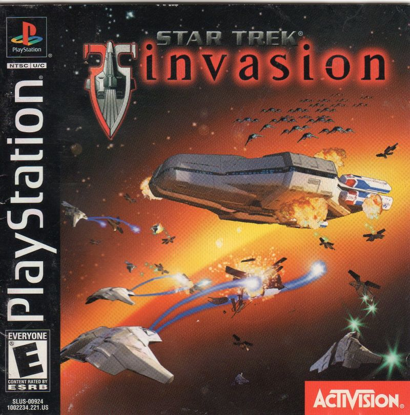 Star Trek: Invasion PlayStation Front Cover