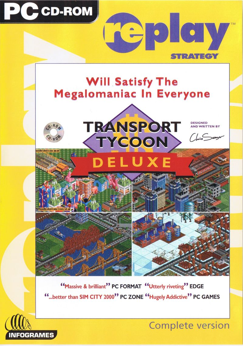 Transport Tycoon Deluxe DOS Front Cover