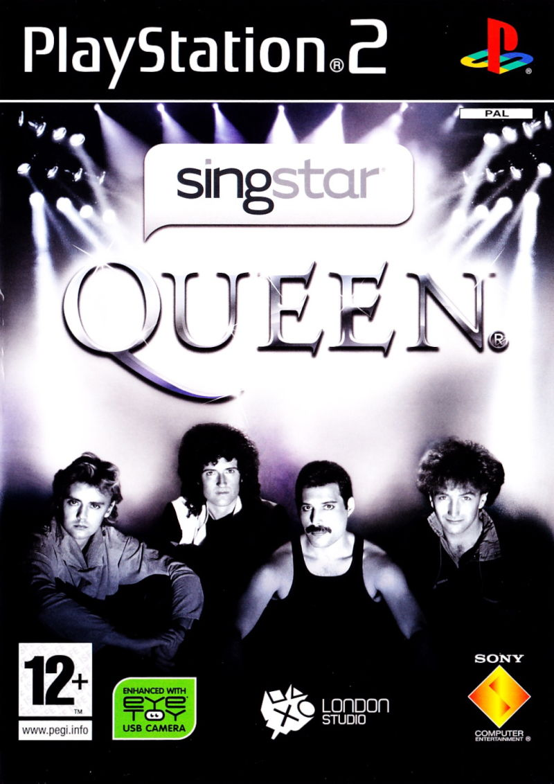 SingStar Queen PlayStation 2 Front Cover