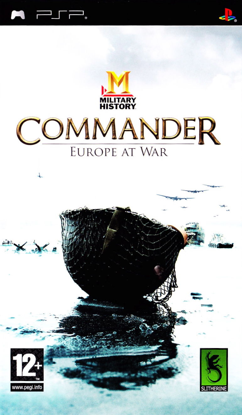 Commander: Europe at War PSP Front Cover