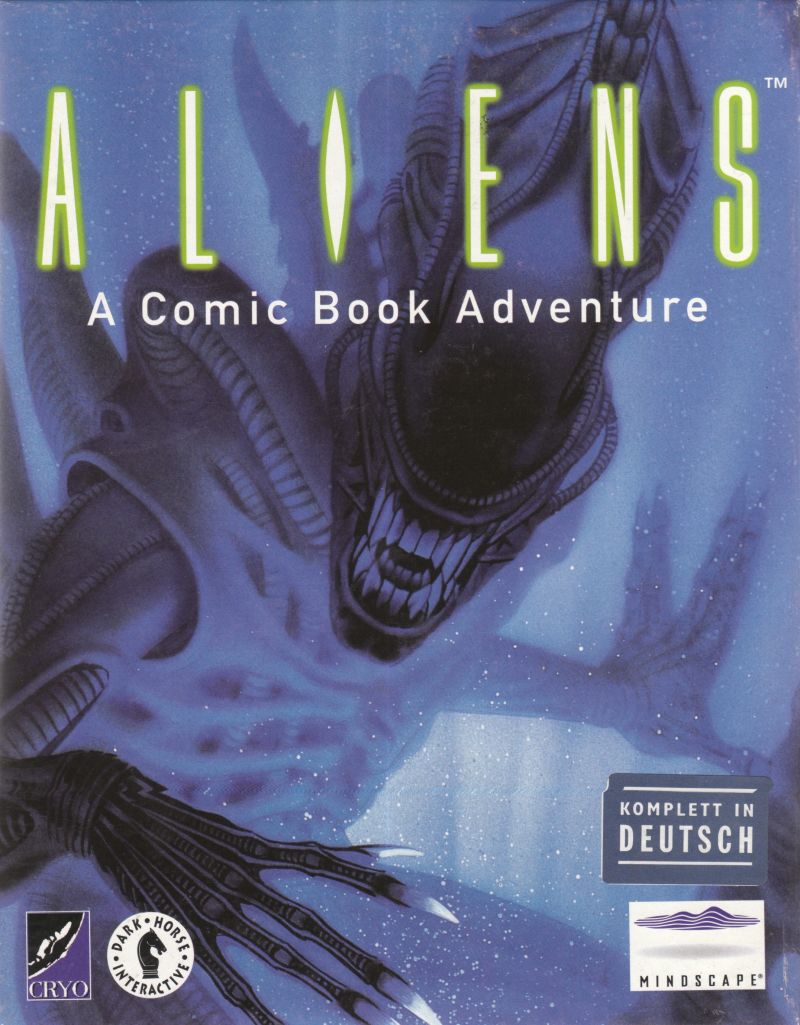 Aliens: A Comic Book Adventure DOS Front Cover