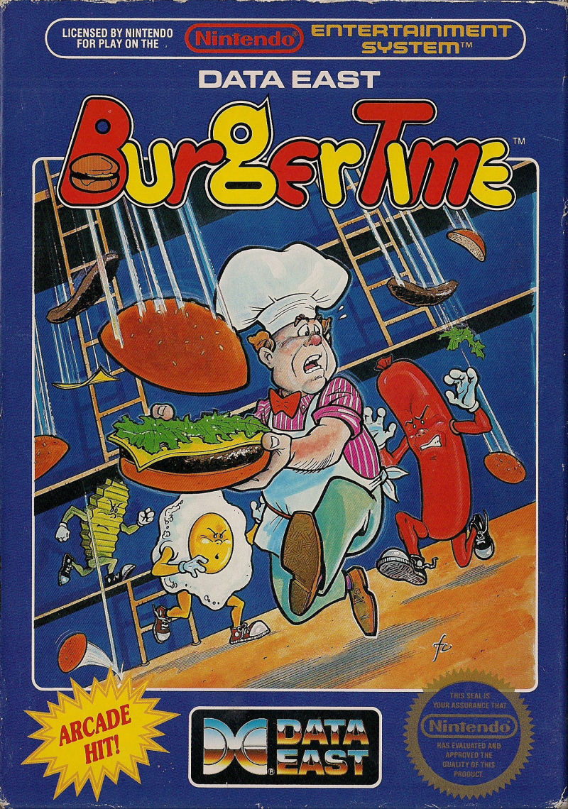 BurgerTime NES Front Cover
