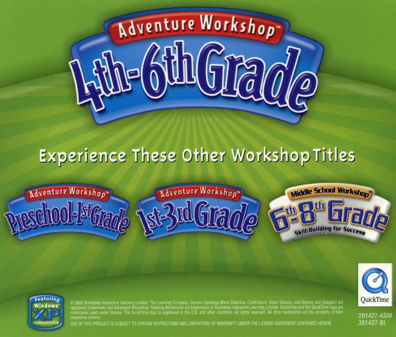 Adventure Workshop: 4th-6th Grade Macintosh Other Jewel Case - Back