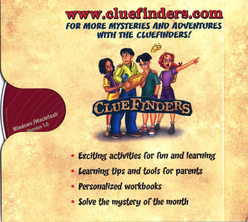 ClueFinders 6th Grade Adventures Macintosh Other Sleeve Case - Inside Right