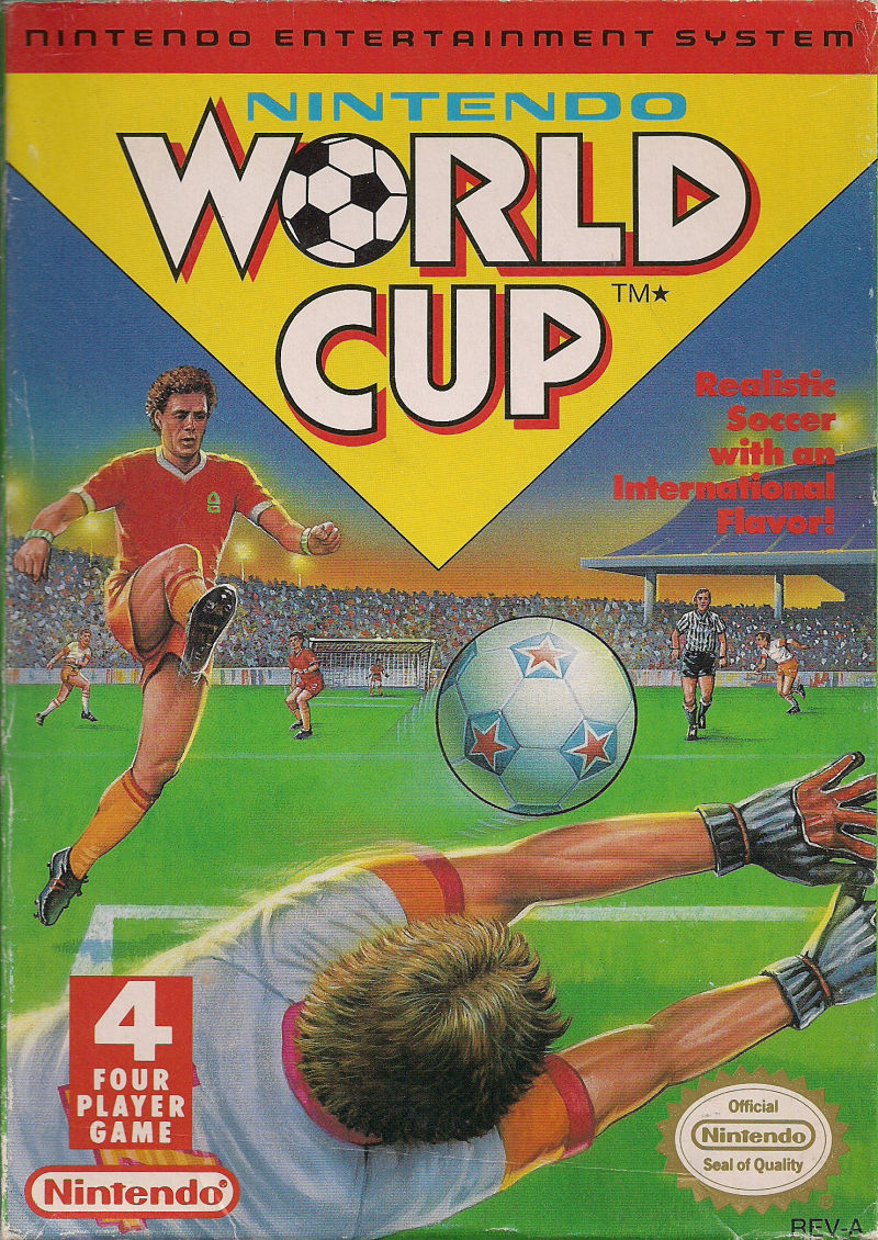 Nintendo World Cup NES Front Cover