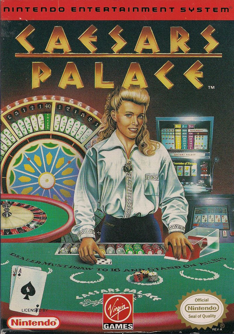 Caesars Palace NES Front Cover