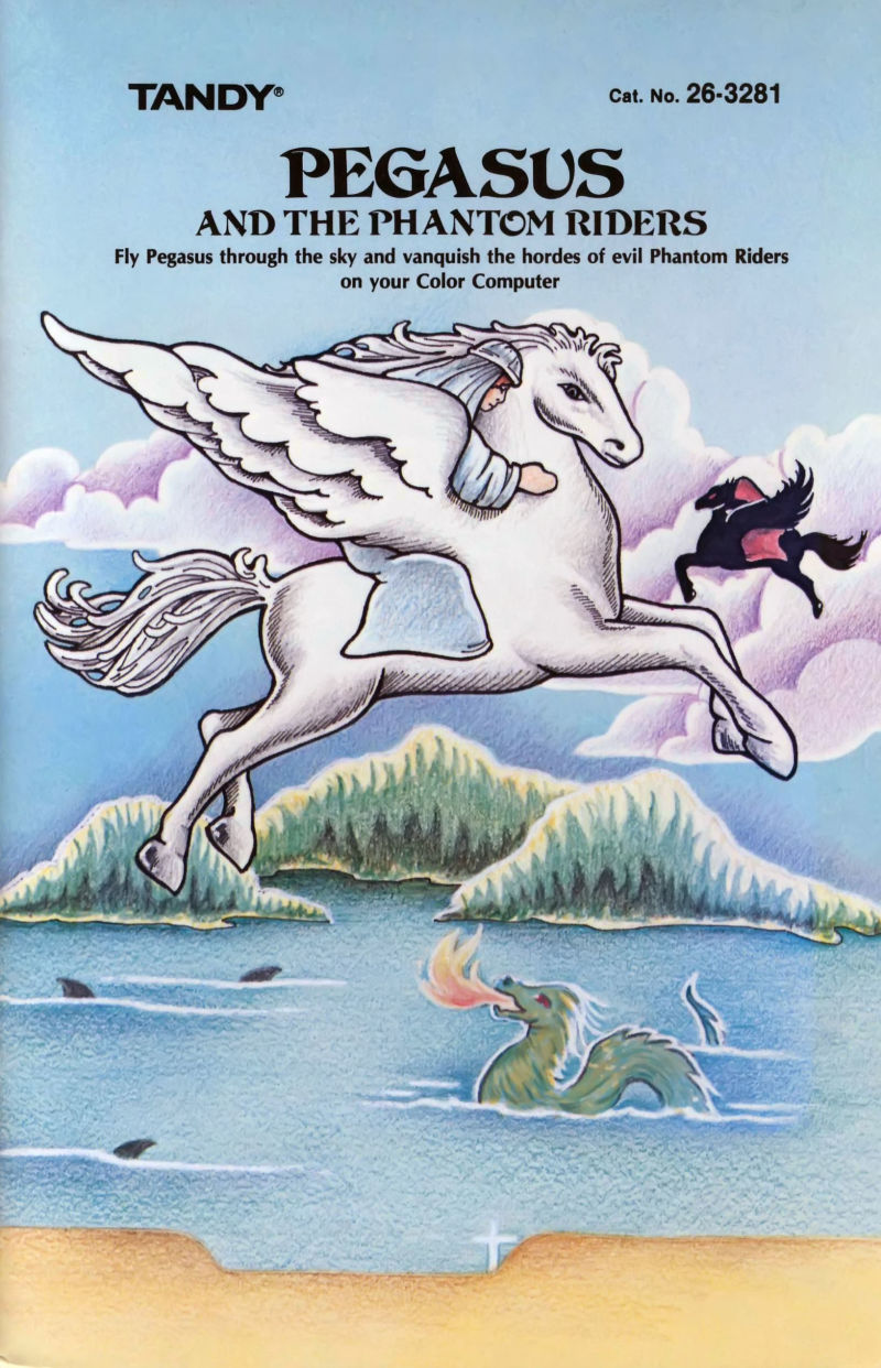 Pegasus and the Phantom Riders TRS-80 CoCo Front Cover