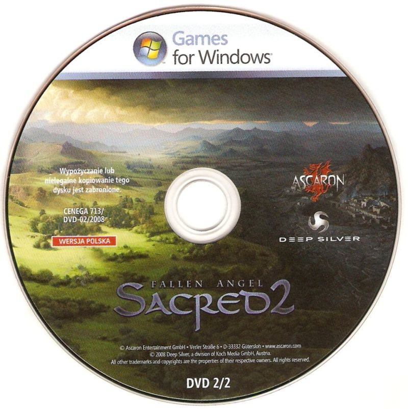 Sacred 2: Fallen Angel Windows Media Game DVD 2/2