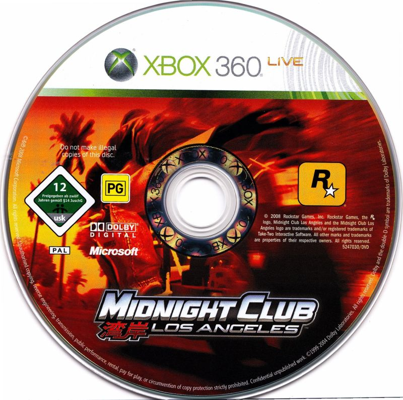 Midnight Club: Los Angeles Xbox 360 Media