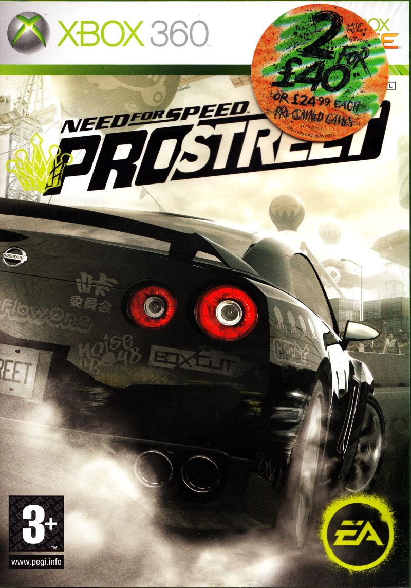 Need for Speed: ProStreet Xbox 360 Front Cover