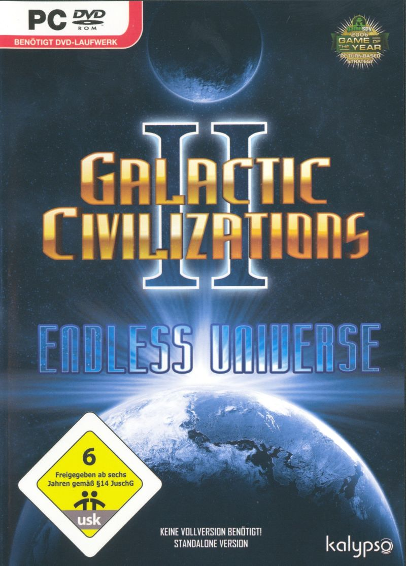 Galactic Civilizations II:  Endless Universe Windows Front Cover