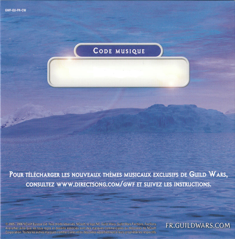Guild Wars: Factions (Collector's Edition) Windows Other Soundtrack - Sleeve - Back