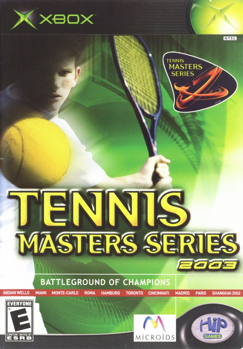 Tennis Masters Series 2003 Xbox Front Cover