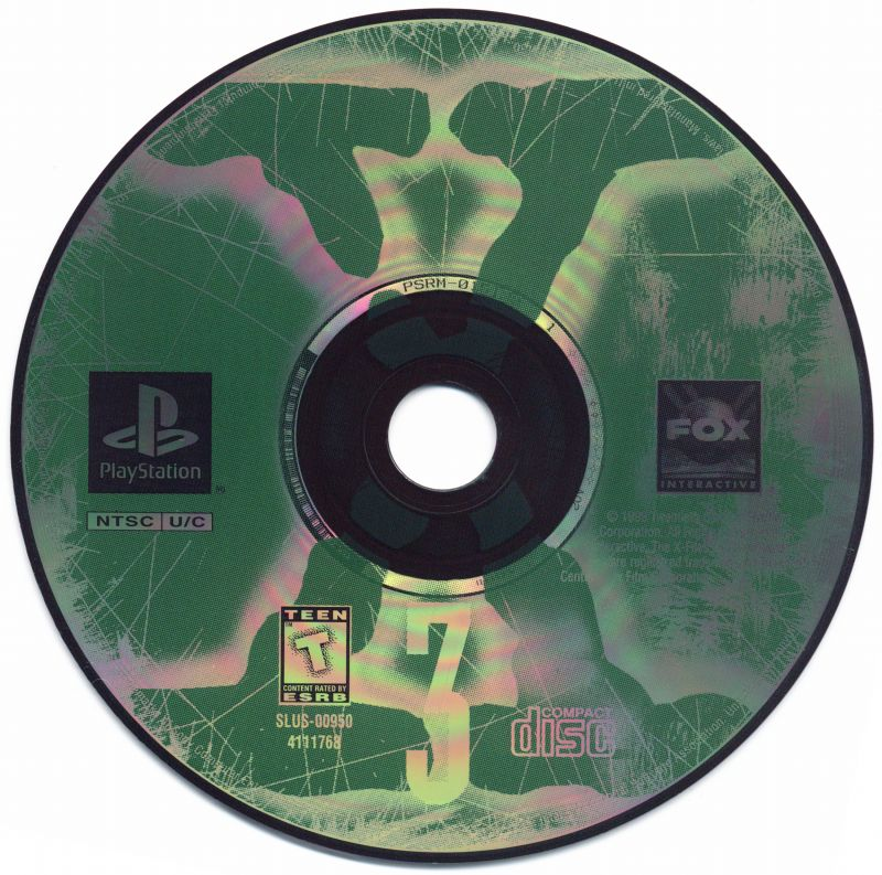 The X-Files Game PlayStation Media Disc 3
