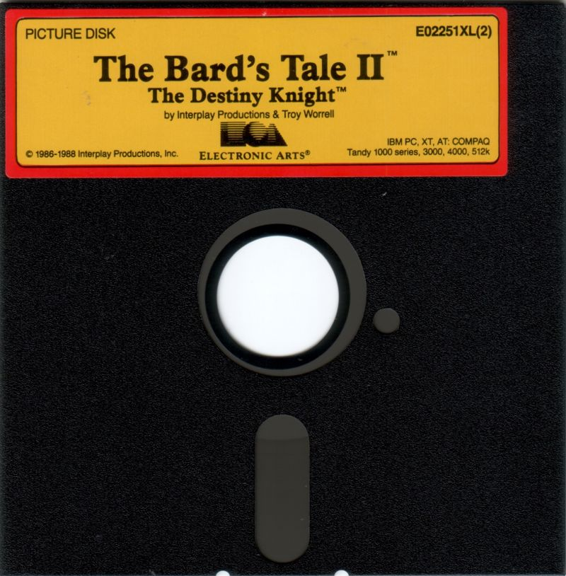 The Bard's Tale II: The Destiny Knight DOS Media Picture Disk