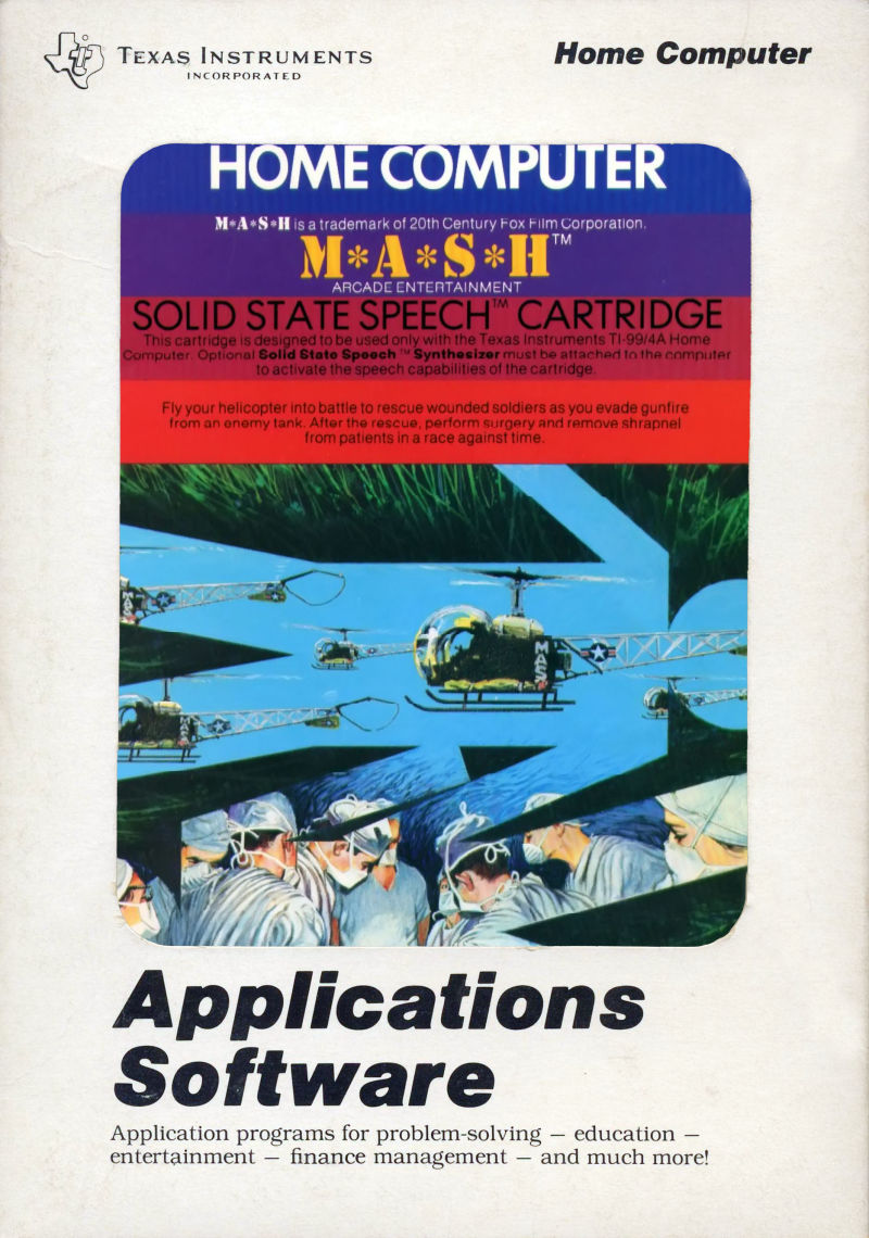M*A*S*H TI-99/4A Front Cover