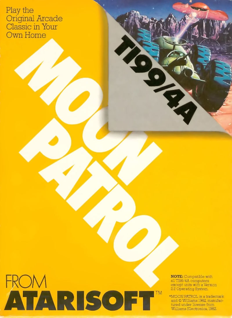 Moon Patrol TI-99/4A Front Cover