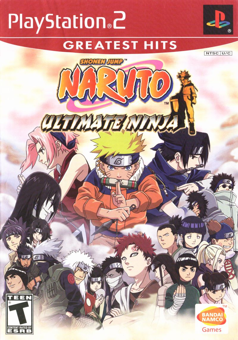 Shonen Jump: Naruto - Ultimate Ninja PlayStation 2 Front Cover