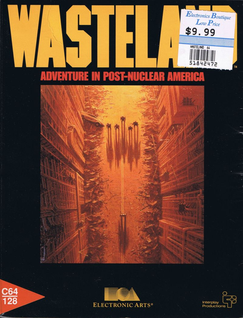 Wasteland Commodore 64 Front Cover