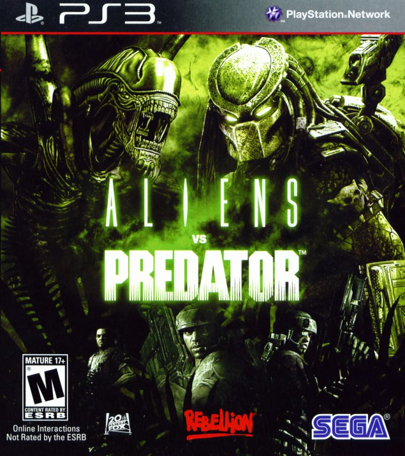Aliens vs Predator PlayStation 3 Front Cover