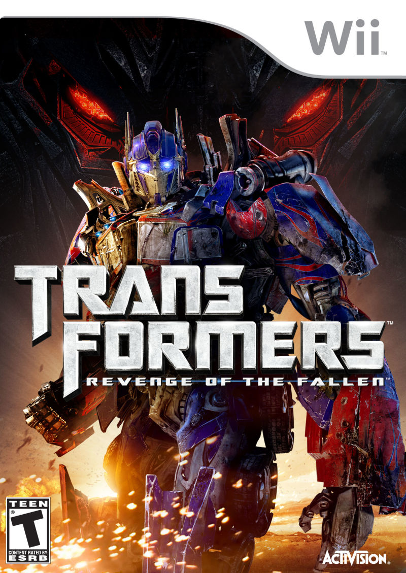 Transformers: Revenge of the Fallen Wii Front Cover