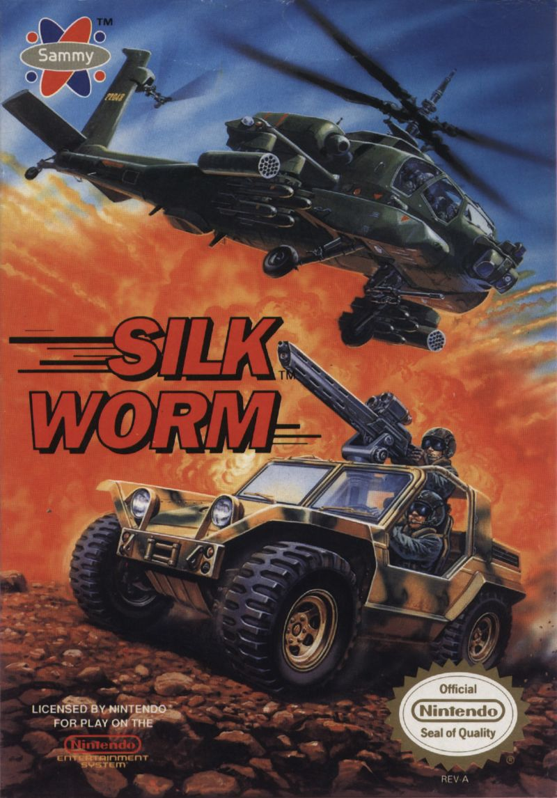 Silkworm NES Front Cover