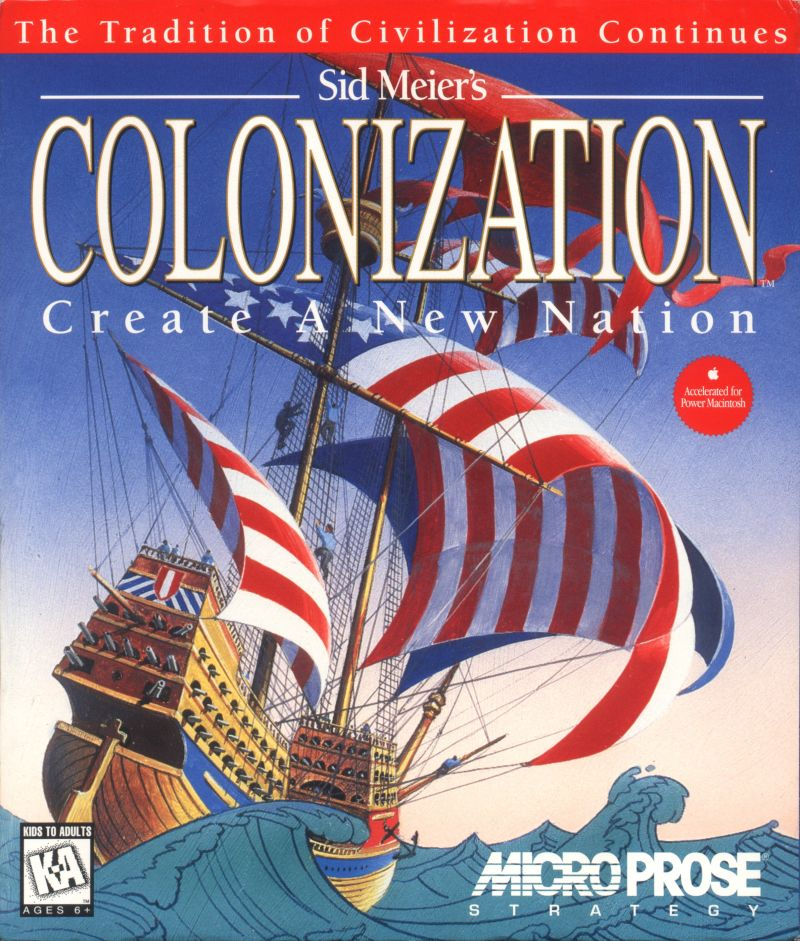 Sid Meier's Colonization Macintosh Front Cover