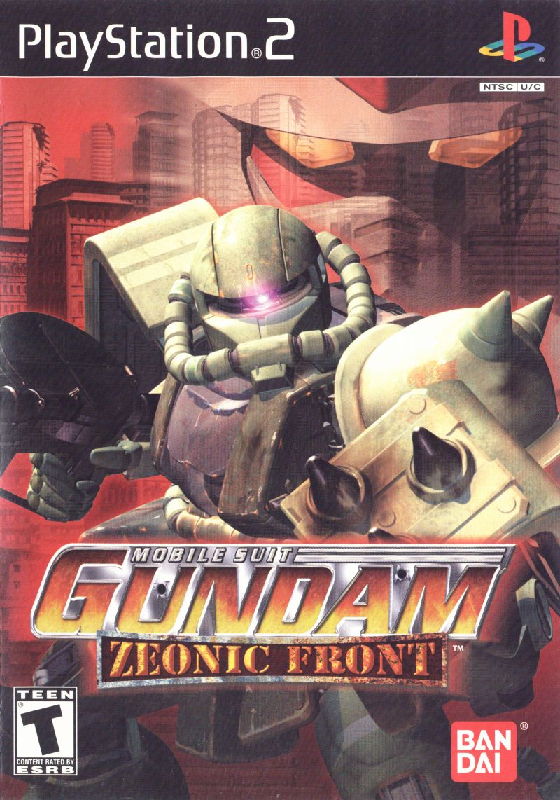 Mobile Suit Gundam: Zeonic Front PlayStation 2 Front Cover