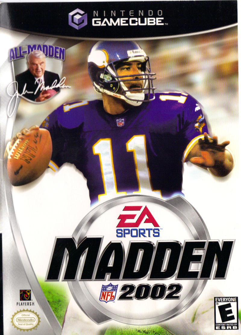 Madden NFL 2002 GameCube Front Cover