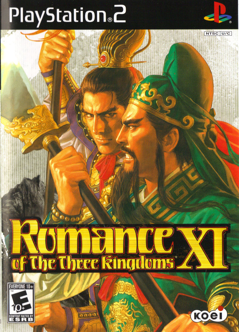 Romance of the Three Kingdoms XI PlayStation 2 Front Cover