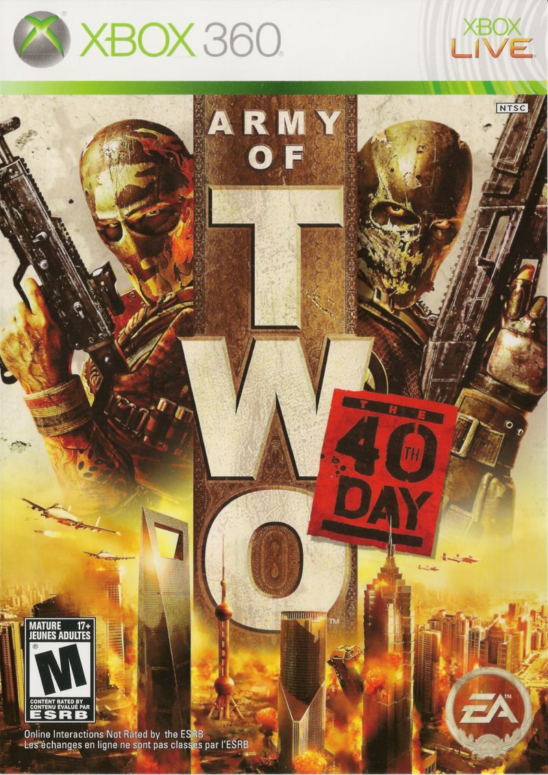Army of Two: The 40th Day Xbox 360 Front Cover