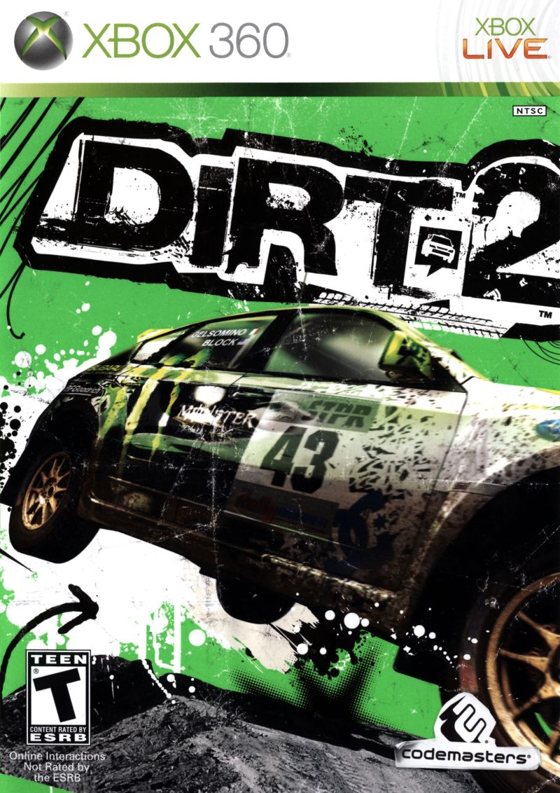 DiRT 2 Xbox 360 Front Cover