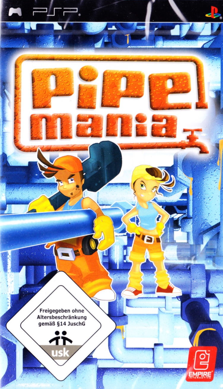 Pipe Mania Game Pipe Mania Psp Front Cover