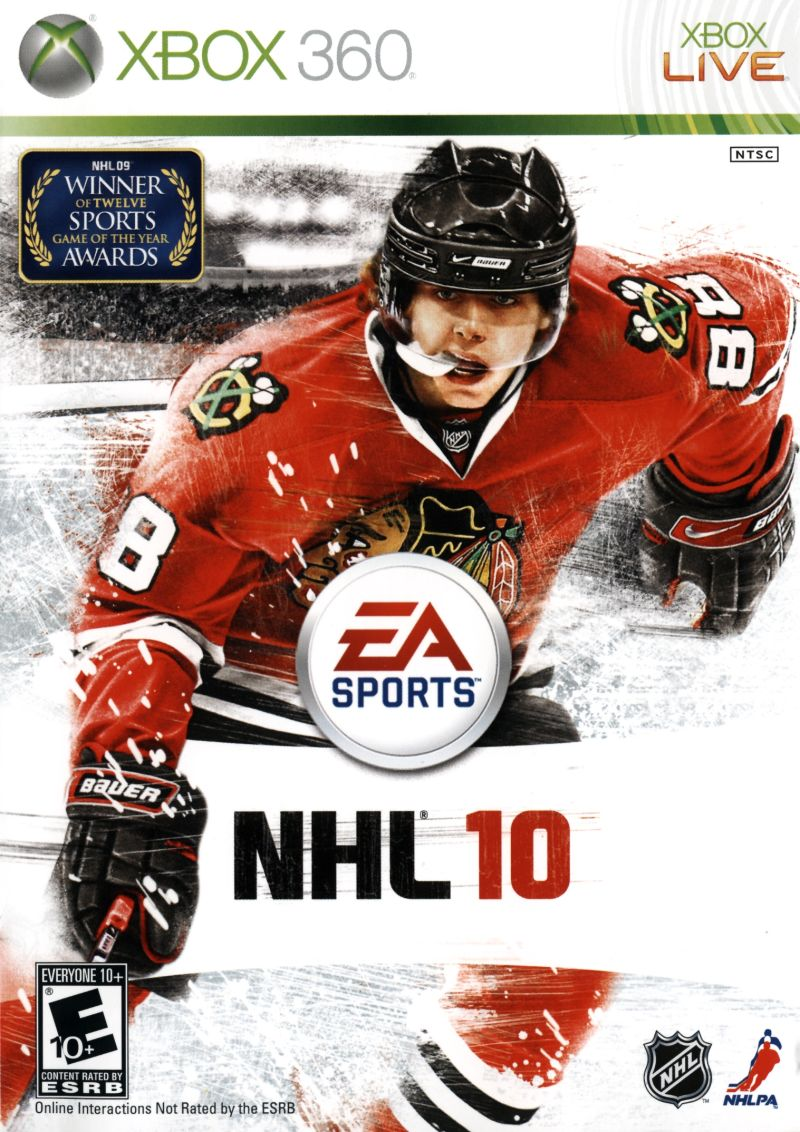 NHL 10 Xbox 360 Front Cover