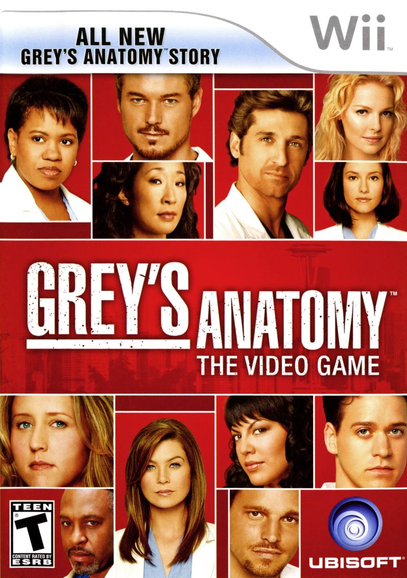 Grey's Anatomy: The Video Game Wii Front Cover