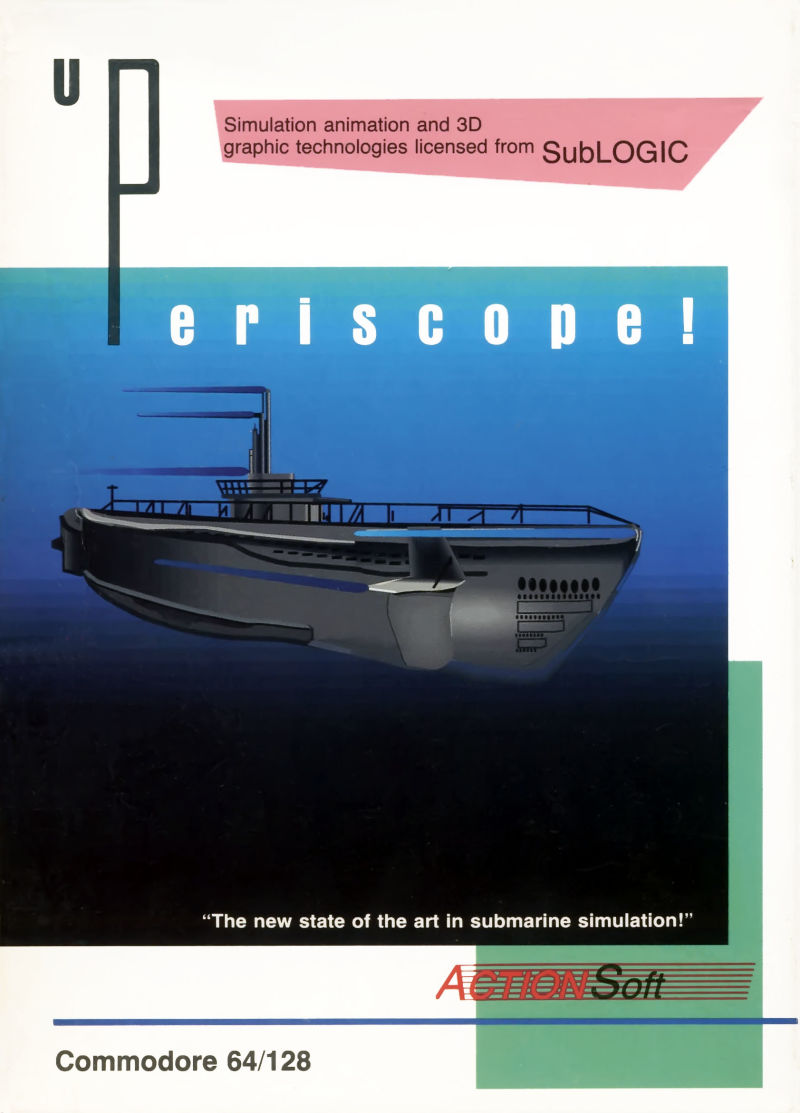 Up Periscope! Commodore 64 Front Cover