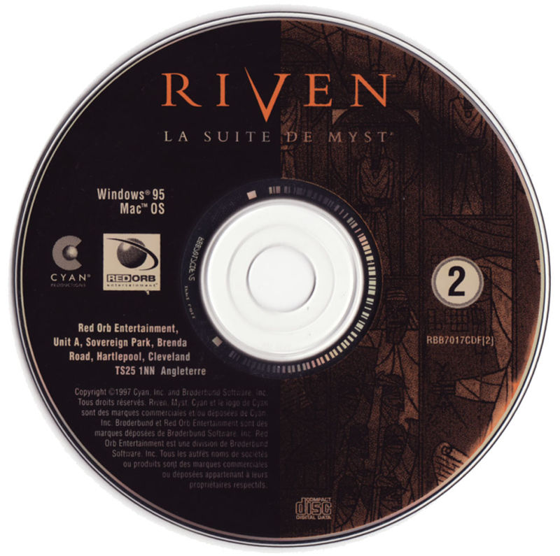 Riven: The Sequel to Myst Macintosh Media CD2