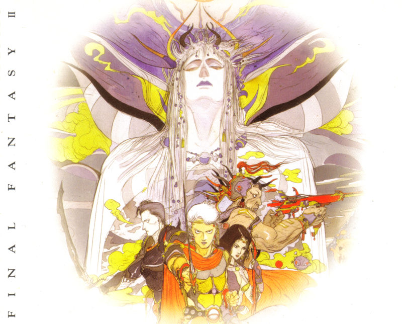 Final Fantasy II PlayStation Inside Cover