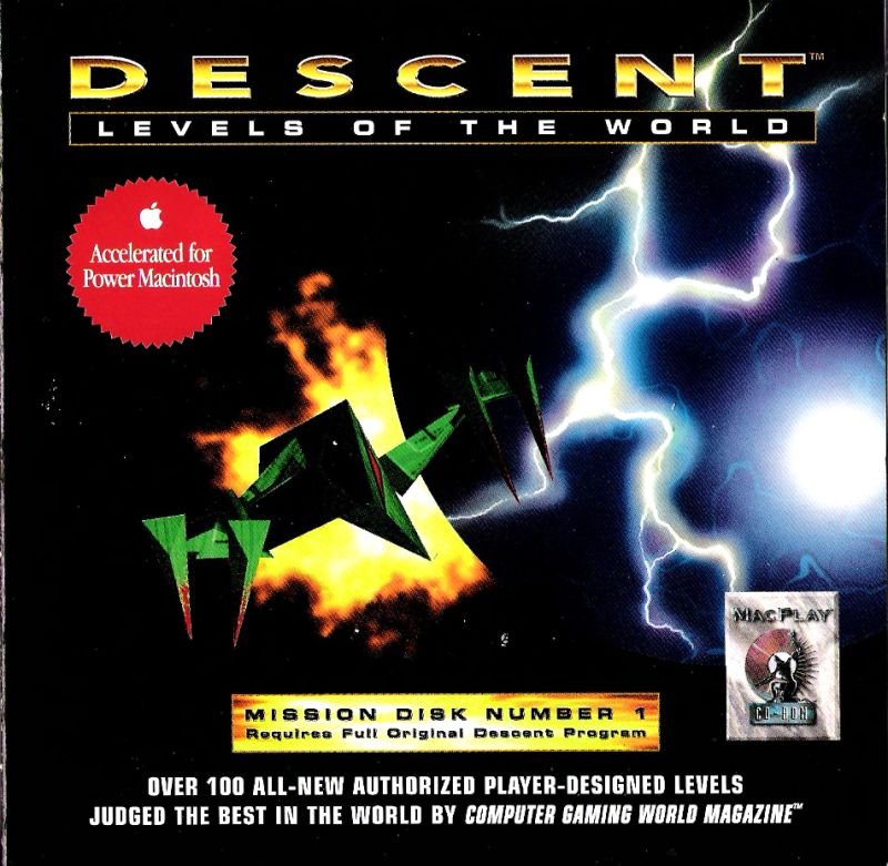 Descent: Levels of the World Macintosh Other Jewel Case - Front