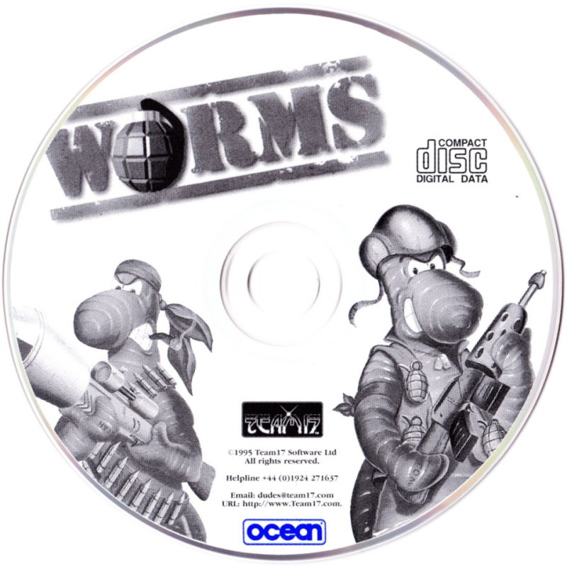 Worms Macintosh Media Game Disc