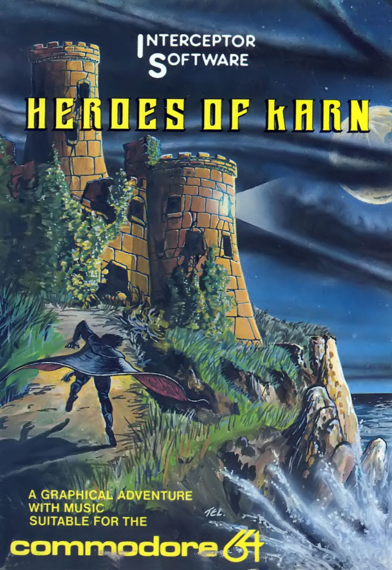 Heroes of Karn Commodore 64 Front Cover