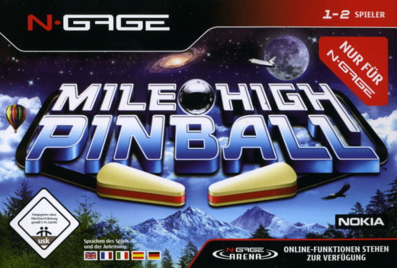 Mile High Pinball N-Gage Front Cover