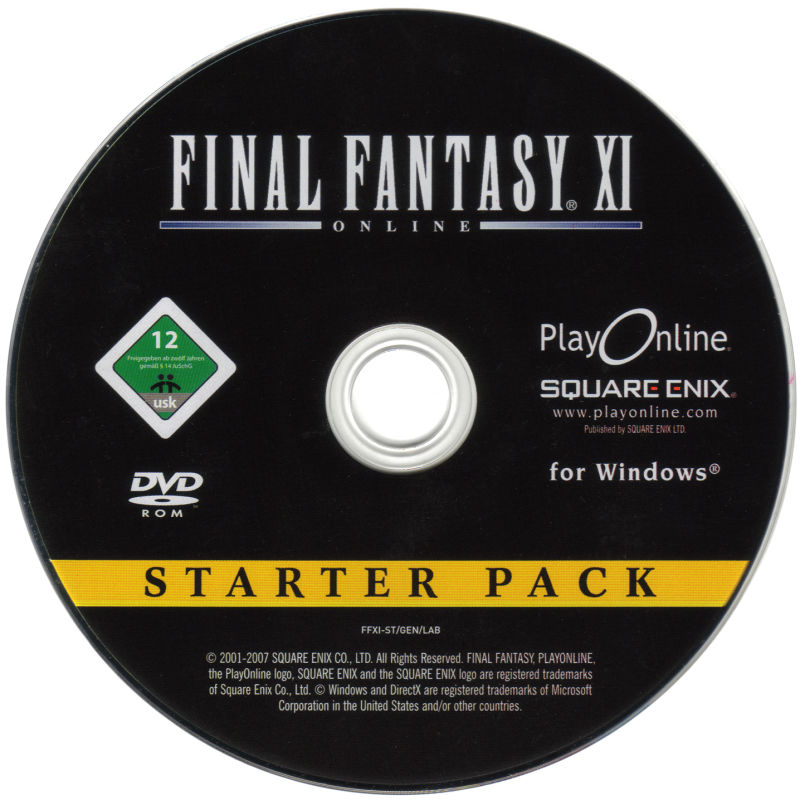 Final Fantasy XI Online Starter Pack Windows Media