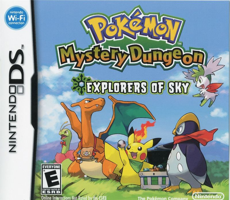 Pokémon Mystery Dungeon: Explorers of Sky Nintendo DS Front Cover