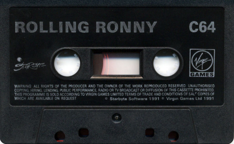 Rolling Ronny Commodore 64 Media