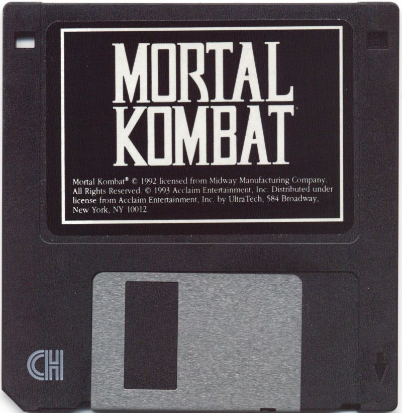 Mortal Kombat DOS Media Disk 1/3