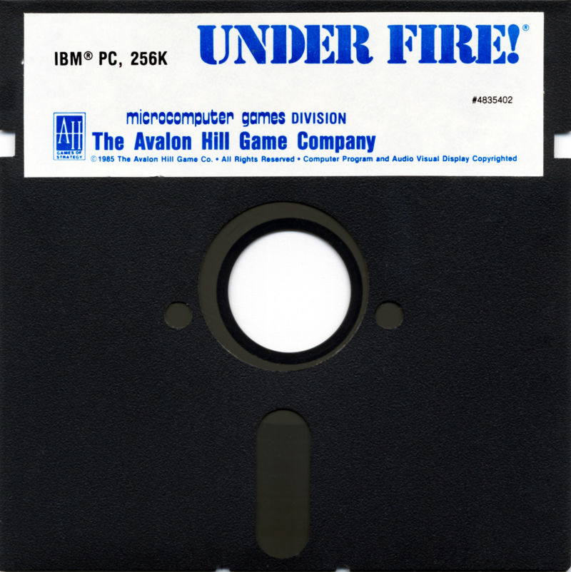 Under Fire! DOS Media Game Disk