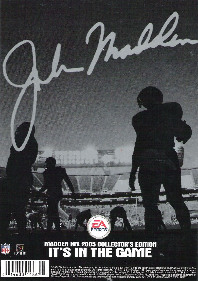Madden NFL 2005 (Collector's Edition) PlayStation 2 Other Keep Case - Back
