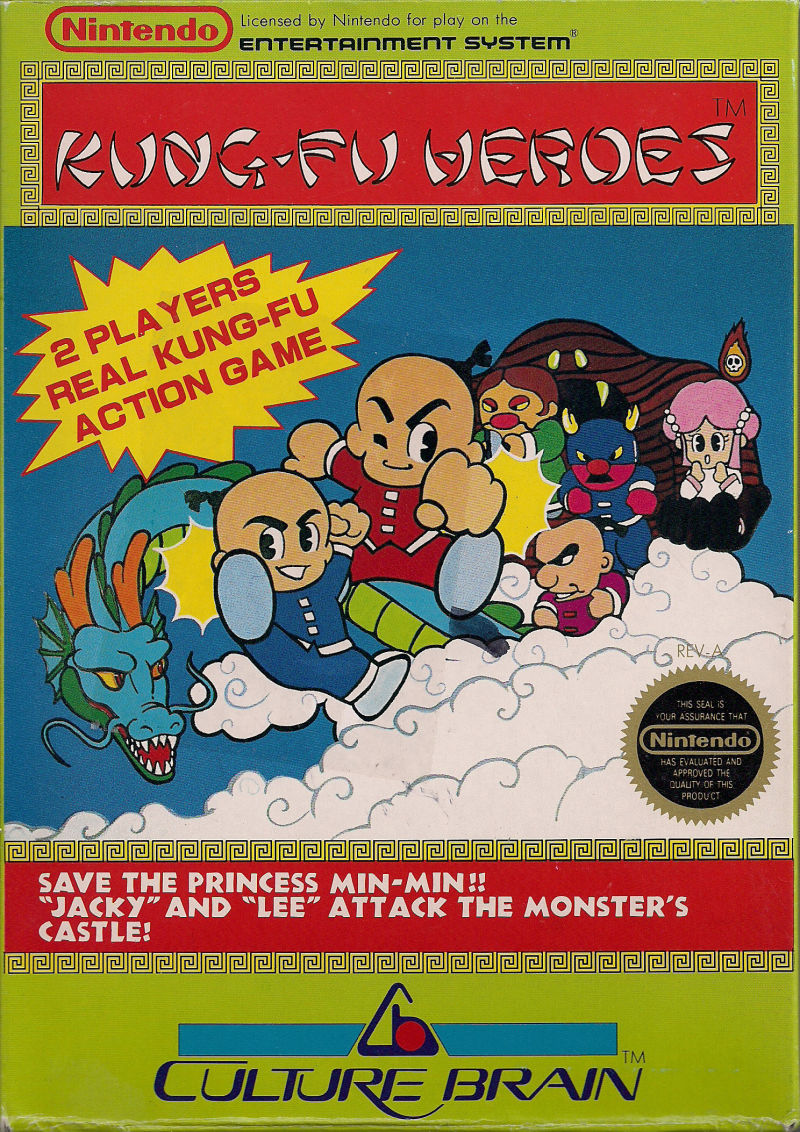 Kung-Fu Heroes NES Front Cover