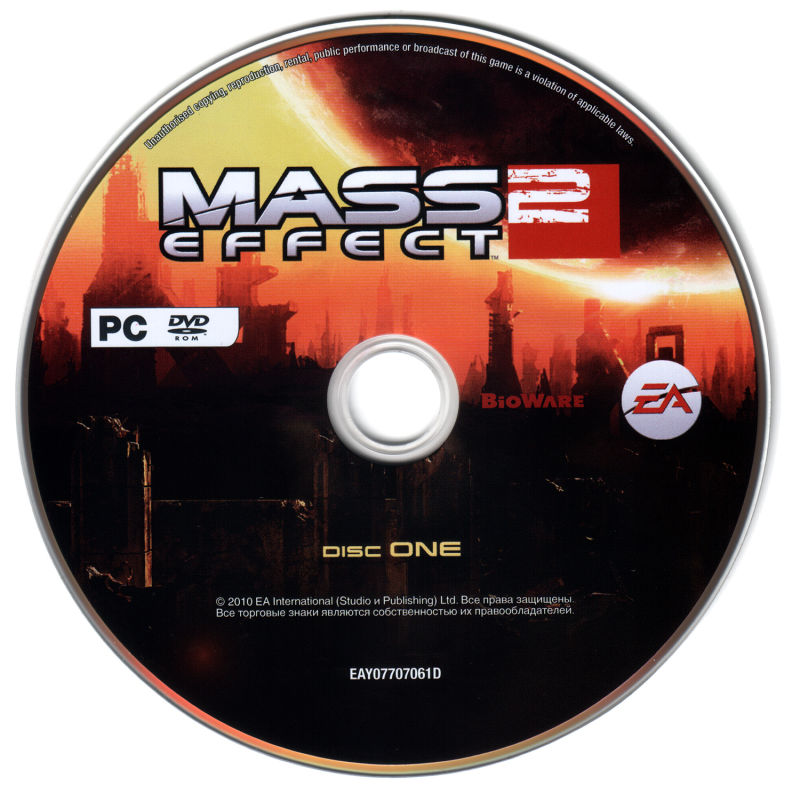 Mass Effect 2 Windows Media DVD 1/2